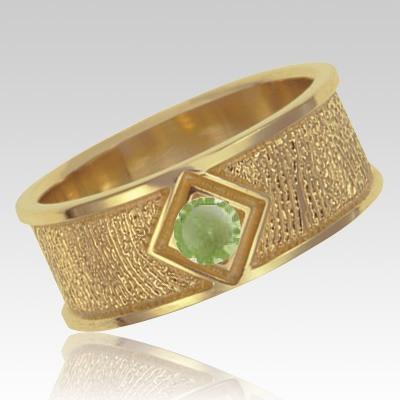 August Birthstone 14k Yellow Gold Ring Print Keepsake