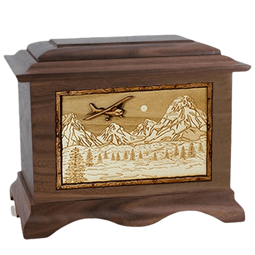 Aviation Wood Cremation Urns