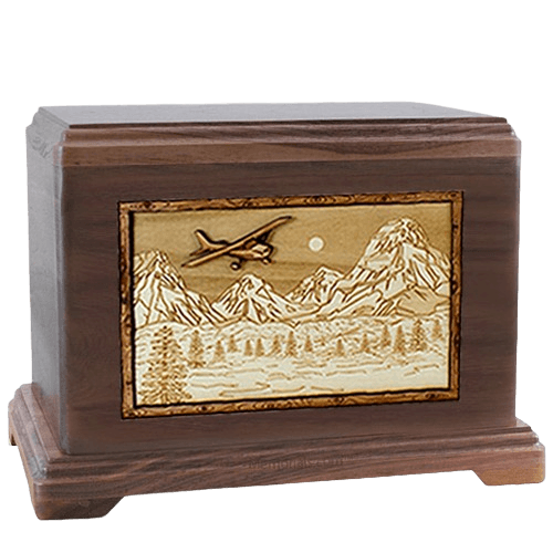 Aviation Walnut Hampton Cremation Urn