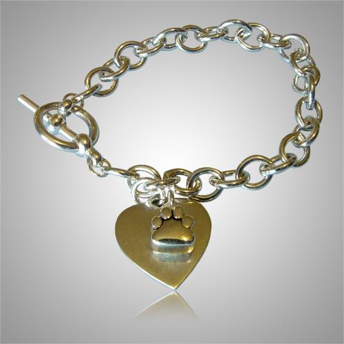 Paw Cremation Ash Bracelet