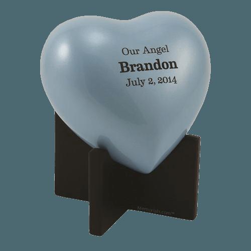 Baby Blue Heart Child Urn