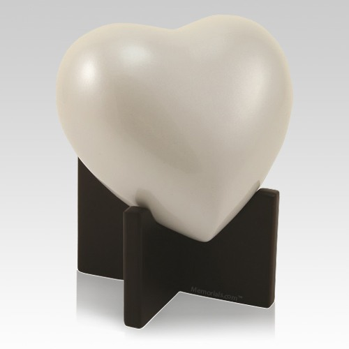 Baby Pearl Heart Child Urn