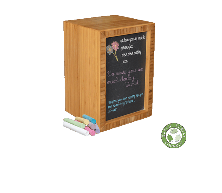 Bamboo Chalk Cremation Urn