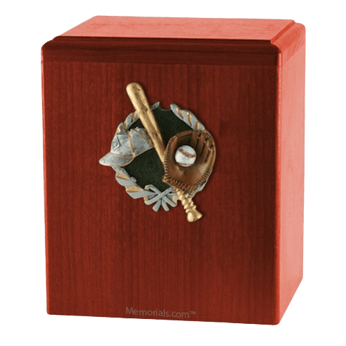 Base Ball Cherry Cremation Urn