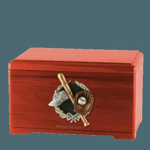 Baseball Fan Cherry Cremation Urn