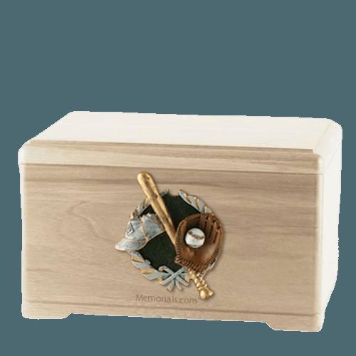 Baseball Fan Maple Cremation Urn