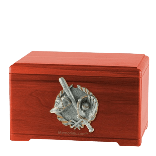Baseball Tribute Cherry Cremation Urn