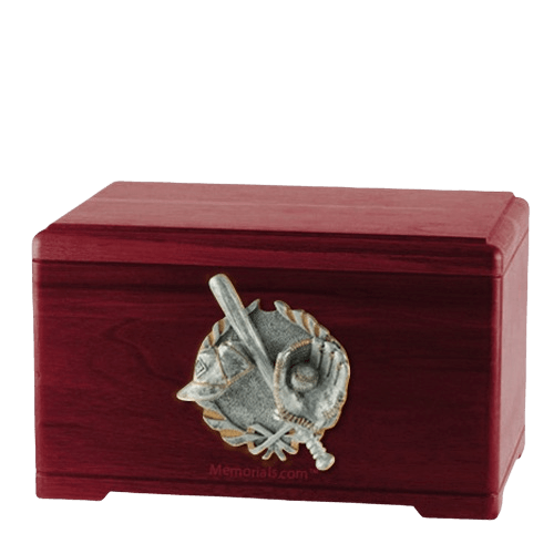 Baseball Tribute Rosewood Cremation Urn