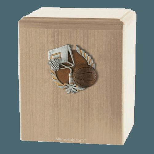 Basket Ball Maple Cremation Urn