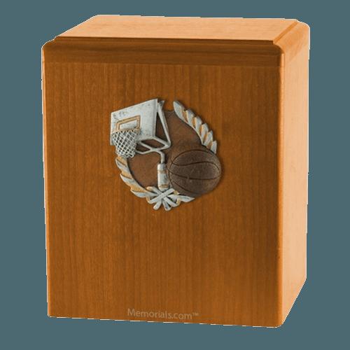 Basket Ball Oak Cremation Urn