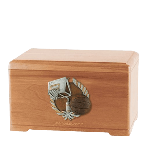 Basketball Fan Light Cherry Cremation Urn