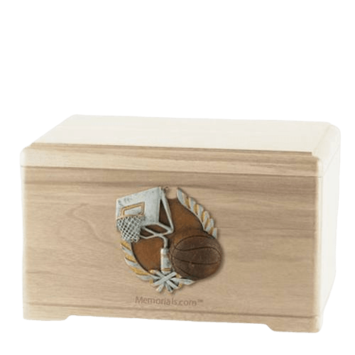 Basketball Fan Maple Cremation Urn
