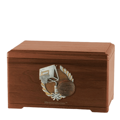 Basketball Fan Walnut Cremation Urn
