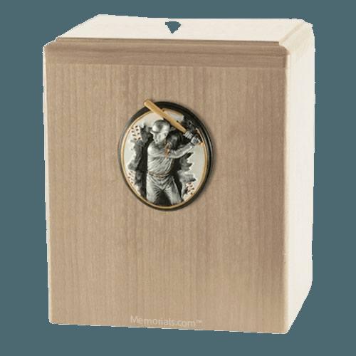 Batter Up Maple Cremation Urn