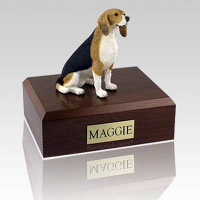 Beagle Sitting Dog Urns