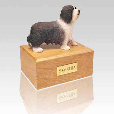 Bearded Collie Standing Dog Urns