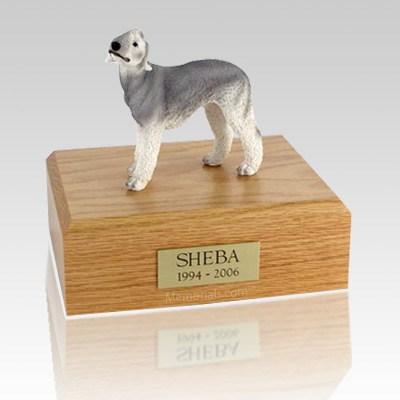 Bedlington Terrier Gray Dog Urns
