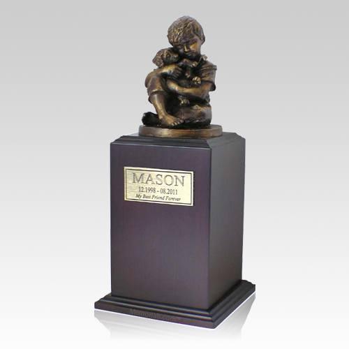 Best Friend Dog Walnut Cremation Urn
