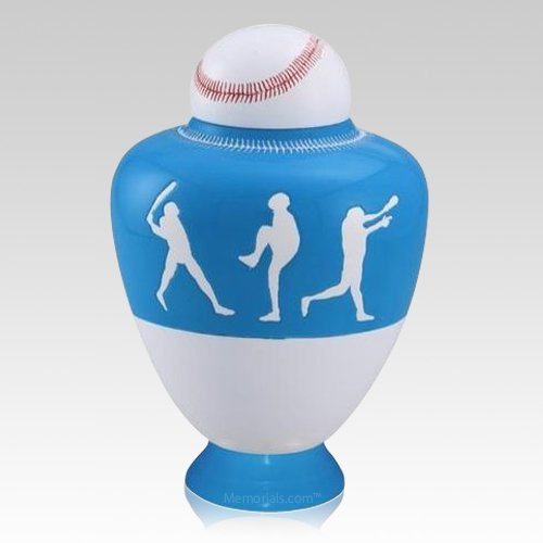 Big League Light Blue Cremation Urn