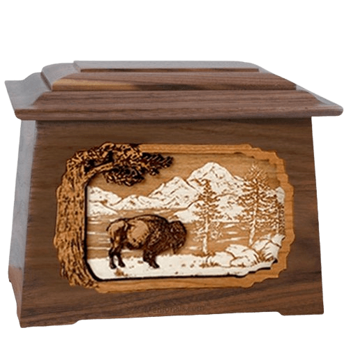 Bison Walnut Aristocrat Cremation Urn