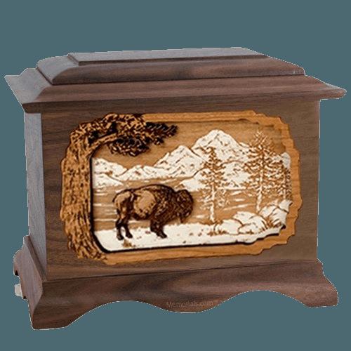 Bison Wood Cremation Urns