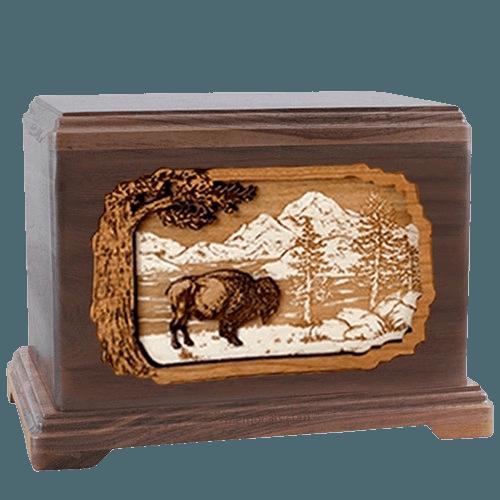 Bison Walnut Hampton Cremation Urn