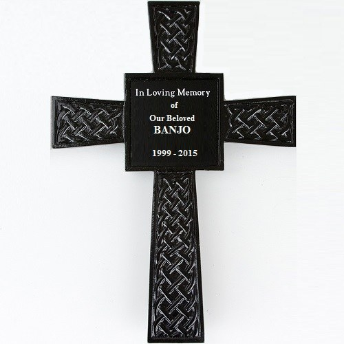 Black Celtic Pet Memorial Cross