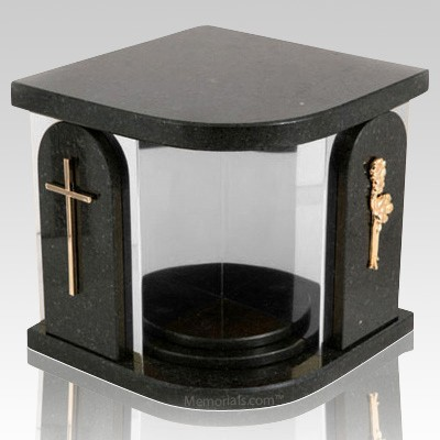 Black Church Silver Urn For Two