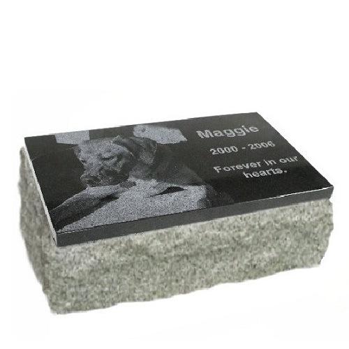 Black & Gray Granite Pet Grave Markers