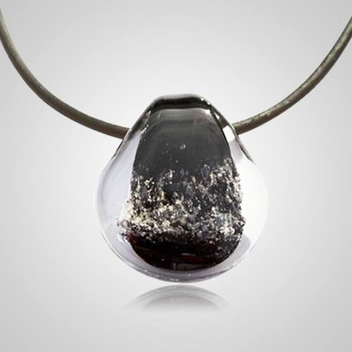 Black Memory Glass Pendants