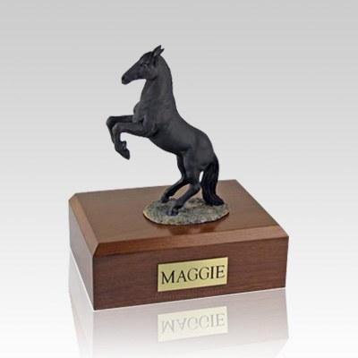 Black Rearing Medium Horse Cremation Urn