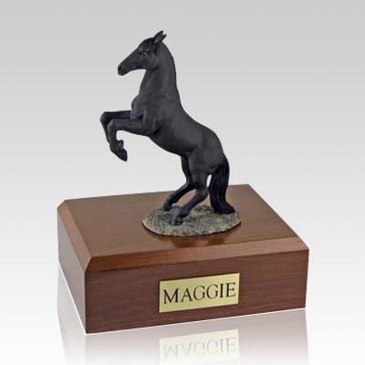 Black Rearing X Large Horse Cremation Urn