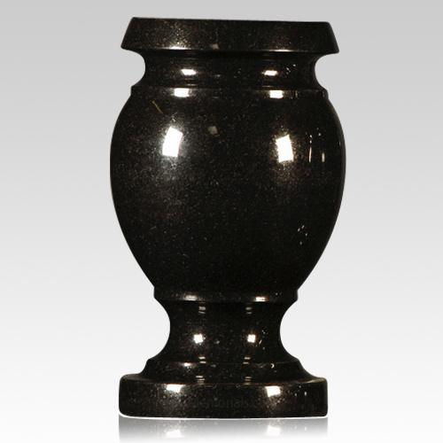 Black Satin Granite Vase