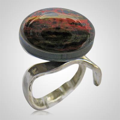 Black Sun Memorial Ashes Ring