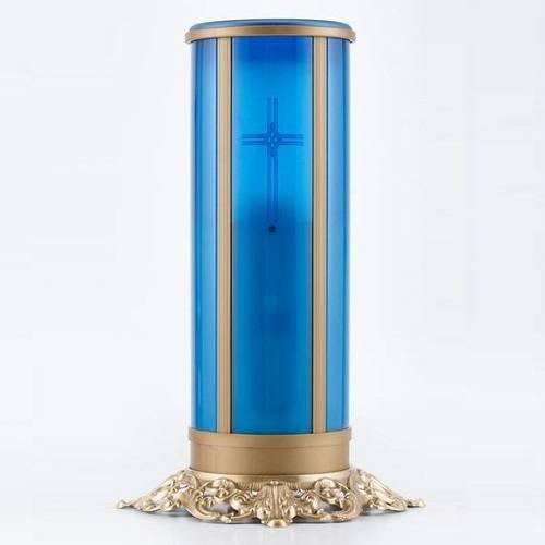 Blue Cross Filigree Memorial Candle