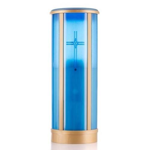 Blue Cross Memorial Candle