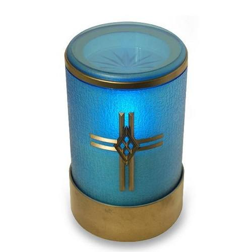 Blue Cross Small Memorial Candle