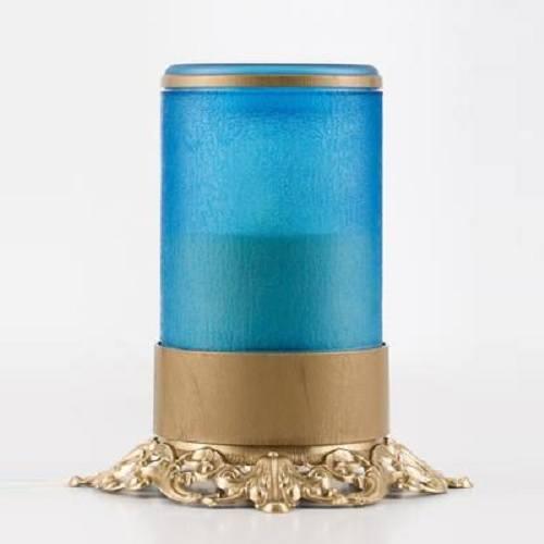 Blue Ornate Memorial Candle