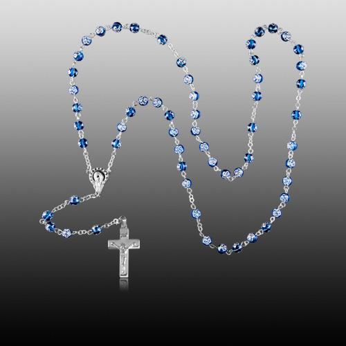 Rosette Silver Cremation Rosary