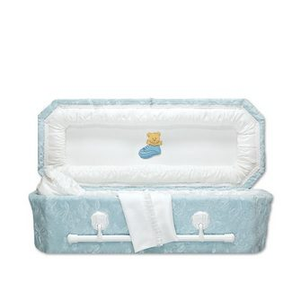 Blue Teddy Child Caskets