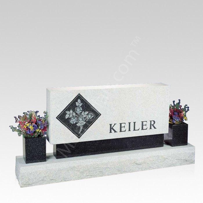 Blush Upright Cemetery Headstone
