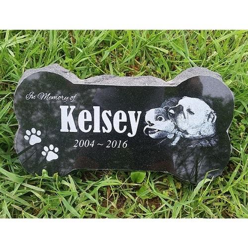 Bone Dog Grave Marker