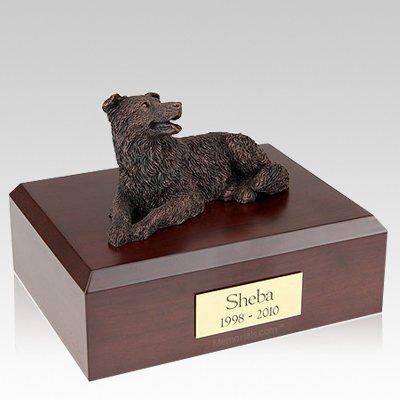 Border Collie Bronze Dog Urns