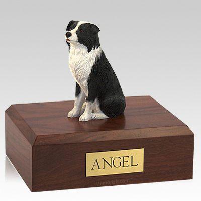 Border Collie Sitting Dog Urns