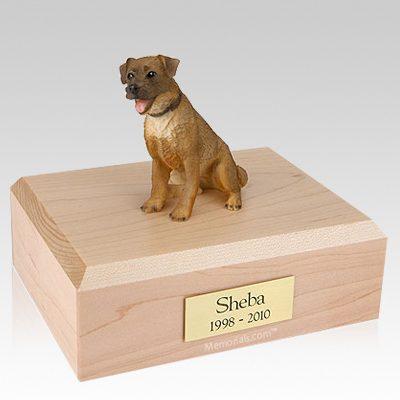 Border Terrier Sitting Dog Urns
