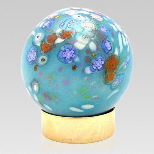 Bouquet Glass Child Cremation Urn