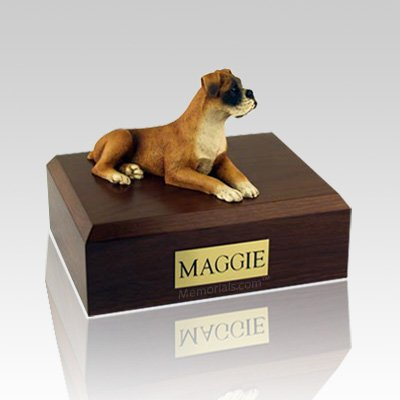 Boxer Ears Down Dog Urns