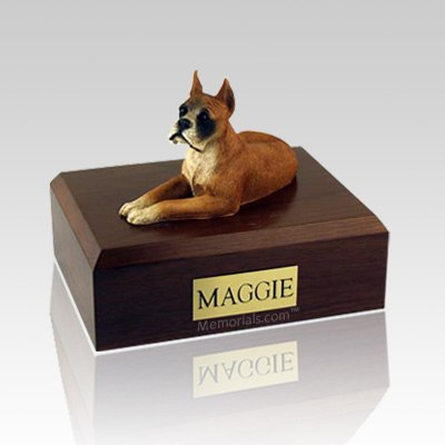 Boxer  Ears Up Dog Urns