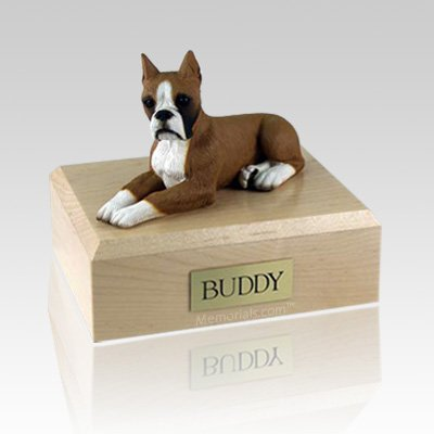 Boxer Fawn Ears Up Dog Urns