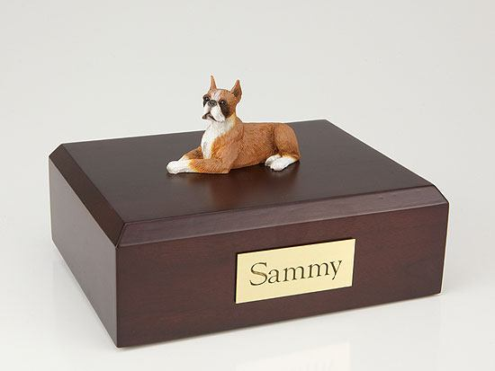 Boxer Fawn Lying Dog Urns